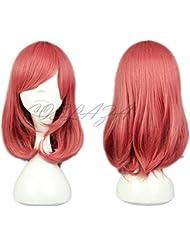 COSPLAZA Perruque Lovelive Anime Cosplay Wigs Nishikino Maki Noël Party Cheveux