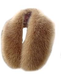 AIYUE® Collar Bufanda Cuello Chal Estola Bolero Caliente de Piel Sintètica para Abrigo Capucha Pelo Chaqueta Capa Mujer Invierno + 10pcs Botones