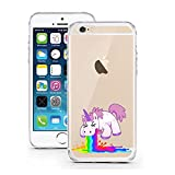 "licaso® iPhone 5S 5 SE 4"" TPU Einhorn Kotzi Hülle Sketch Unicorn Einhörner Case transparent klare Schutzhülle Disney Hülle iphone6 Tasche Cover (iPhone 5 5S SE, Einhorn Regenbogen 1)"