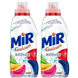 Mir - Couleurs - Lessive Liquide Super Concentrée - Flacon 1 L / 25 Lavages - Lot de 2