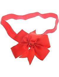 SODIAL(R) 1 Stueck Baby Maedchen Haar Fliege Baendchen Dekor Dekor Haarband Stirnband (rot)