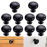 10er Schwarz aus Zink-Legierung 28mm Durchmesser Küche Möbelknopf Knauf Knöpfe