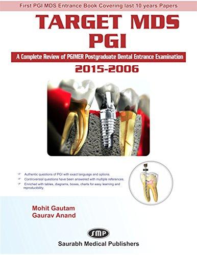 """Target MDS PGI(A complete Review of PGIMER Postgraduate Dental Entrance Examination) ,""""2015-2006"""" (First Edition,2016)"""