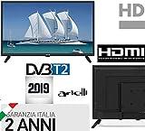 TV 22 POLLICI FULL HD ARIELLI DVB-T2 22' Con Digitale Terrestre T2 Garanzia Italia