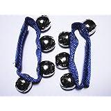 Janika Pair Of Blue Wrist Bells Morris Dance Folk Play 20mm Bells Adjuatable Velcro