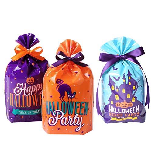 Healifty 150pcs Halloween-Süßigkeit-Beutel Drawstring-Festlichkeit sackt Halloween-Party-Dekoration ein