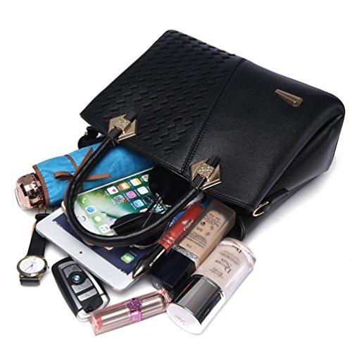 YouPue Frauen Handtasche Elegant Henkeltaschen Shopper Tasche Umhängetasche Crossbody Tasche Schwarz