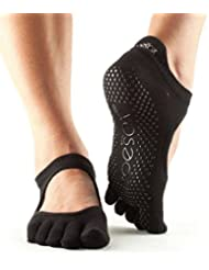 Toesox Ytoewtbellarinablkm, Calze per Yoga E Pilates Unisex – Adulto, Black, Medium