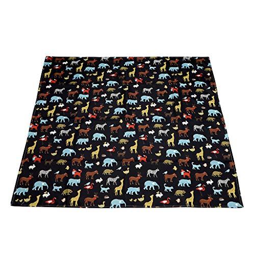 IGNPION Splash Matte Hochstuhl Baby Splat Fußmatte kein Durcheinander rutschfeste Füttern Displayschutzfolie (110 cm x 110 cm)(Schwarz) (Hochstuhl Fußmatten)