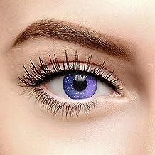 Lentilles de Contact de Couleur Violet Galaxie (90 Jours) - Sans Correction 9214e7abe46b