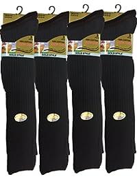 12pares de calcetines largos para hombre 100% Puro algodón acanalado, calcetines rodilla alta de algodón puro.