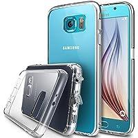 Ringke Fusion, Funda Para Samsung S6 de Cristal Claro Choque Absorción TPU Parachoques Protección Gota Prima Claro Trasera Dura [Antiestático][Resistente a Arañazos]