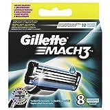 Gillette Lot de 8 lames Mach3 pour rasoir homme