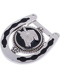 MagiDeal Boucles de ceinture Classique Style de Western Cowboy Motif Cheval  pour Homme 3.54 x 2.76 d0ce5e6db61