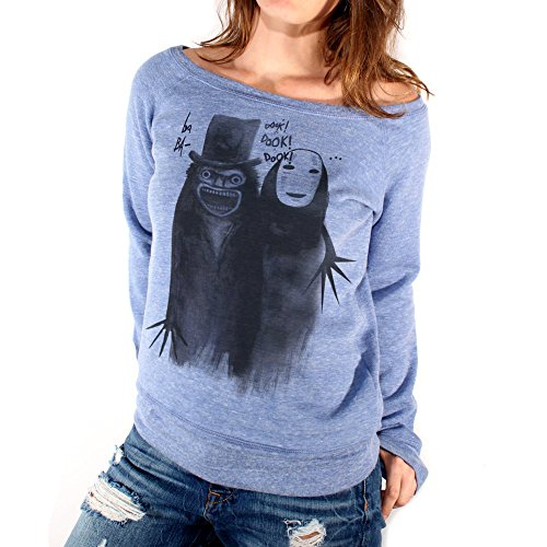 Felpa Fashion NO FACE AND BABADOOK FOREVER FRIENDS - FILM by Mush Dress Your Style Blu Triblend