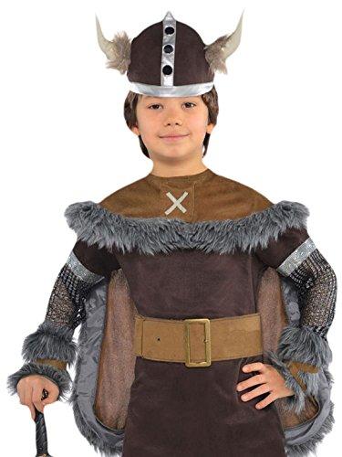 Faschingsfete Jungen Wikinger Kostüm, Karneval, Fasching, Halloween, Braun, Größe 104-116, 4-6 Jahre (Schimmer Und Glanz Kostüme Für Halloween)