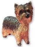 Leonardo Collection Figura Decorativa de Yorkshire Terrier Perro, Piedra, marrón