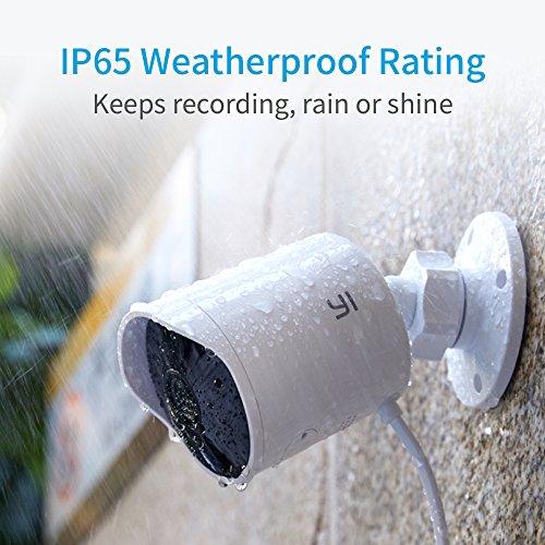 YI Telecamera da esterno Camera IP da Esterno 1080p Videocamera di Sorveglianza Outdoor Impermeabile IP65 Telecamera di Sorveglianza con Audio Bi-Direzionale, Visione Notturna (Bianco) - 4