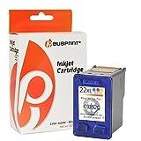 Bubprint Druckerpatrone kompatibel für HP 22 XL HP22 XL 22XL für Deskjet F2180 F2224 F2280 F370 F375 F380 F4180 D1360 D2360 D2460 PSC 1410 1415 Farbe