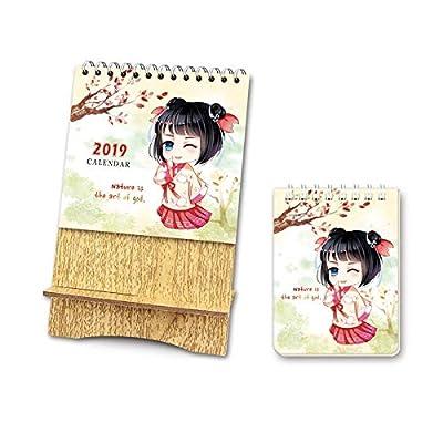 SMAQZ Calendario Etiqueta Colgante Calendario Calendario De Escritorio De Estilo Coreano por SMAQZ