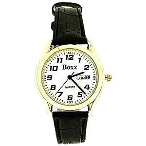 La Montre Hommes BOXX - Affichage Jour et Date - Bracelet Imitation Cuir.