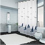 ZHEN GUO SHOP Ozean Art Badezimmer Duschvorhang Wasserdicht schimmelig Vorhang Vorhang Verdickung Duschvorhang (Größe : 220x200cm)