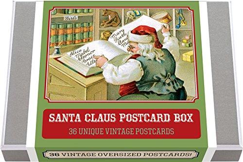 Santa Claus Postcard Box - 36 Unique Vintage Postcards