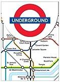 Robert Frederick Mini Magnetic Notebooks London Underground, Plastic, Assorted
