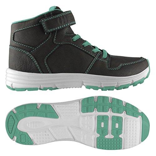 Sneakers - 4556-puleaj - Bambini DK CHOCOLATE-GREEN