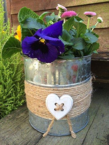 Homes on Trend Jardinera de Metal Redonda Pot Heart Garden Plant Flowe