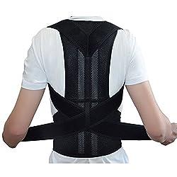 ZJchao Geradehalter Rücken Bandage zur Haltungskorrektur bei Rücken Schulterschmerzen Damen und Herren (XL)