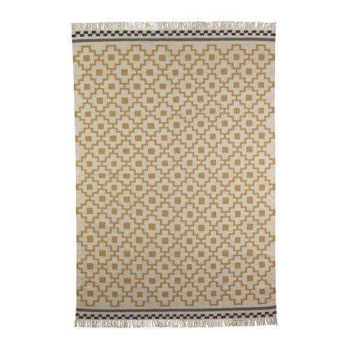 IKEA-ALVINE-RUTA-Rug-flatwoven-blanco-amarillo-170x240-cm