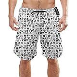 Herren Quick Dry Tiger Print Animal Print Coole Strand-Shorts Badehose Strand-Boardshorts, M