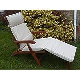 Uk-Gardens–Cojín para muebles de jardín–Cojín para tumbona (Funda Extraíble, doble relleno de uso interior o exterior, color