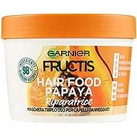 FRUCTIS Hair Food Papaya Máscara riparatrice 3 en 1 con fórmula vegana para ...