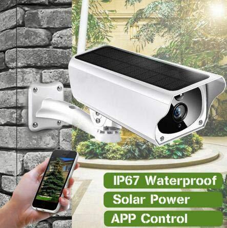 TKFY Solarpanel Wireless-Netzwerk im Freien wasserdicht staubdicht Überwachungskamera Set 2 Möglichkeiten Audio-Überwachungssystem für Android/iOS/PC (Wlan-überwachungskameras Im Freien)