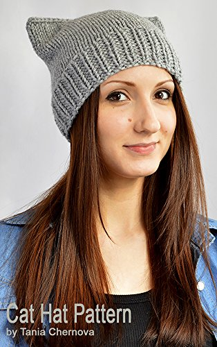 Cat Hat Knitting Pattern Knit Hat Pattern Cat Ears Cat Beanie Pattern Cat  Ear Hat Mütze 6dd14a43553