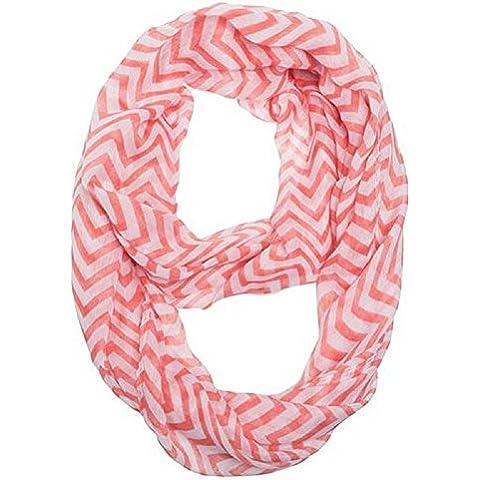 Toraway rayas onduladas gasa de las mujeres de la bufanda de impresión doble vuelta del abrigo de la bufanda Sheer