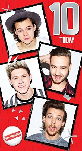 One Direction Glückwunschkarte zum 10Geburtstag