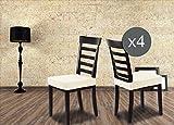 Banzaii Überzug Sitz sofort Tatsache Universal-Stuhl Küche und Esszimmer X 2und X 4in 16Farben Bianco
