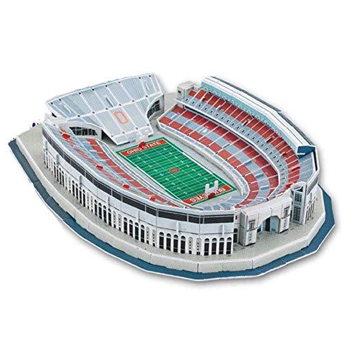 YWAWJ 3D-Rugby-Feld Modell Rosskastanien Ohio Stadium Modell Fans DIY Souvenir Große Naturgetreue Multicolored Lernspielzeug