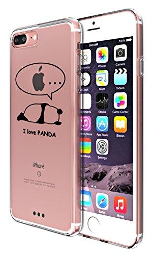 iPhone 7 Plus Custodia Simpatico panda Lamore elefante i Phone 7 Plus Case Transparente Silicone Cover Pacyer® TPU Gel Protettivo Skin Shell Per apple iPhone 7 Plus 5.5 2