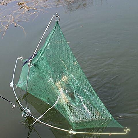 VANKER 80cm de pesca del cangrejo de los pescados de la tortuga del camarón Trampa red echada seis agujeros de la jaula plegable de Lure