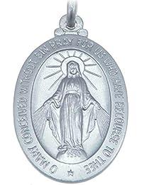 8f7d869f0f7 Medalla milagrosa de plata de ley (30 mm) con cadena de 50 cm y
