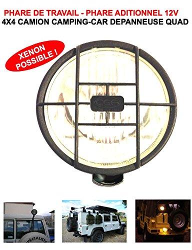 LCM2014 Robuste Puissant Faro de Trabajo Adicional Faro de ala 13cm con Rejilla. Raid Preparation 4x 4Faucet Donaldson Topspin Snorkel
