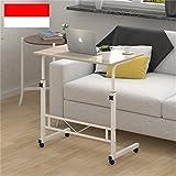 LQQGXLPortabler Klapptisch Praktisches Bett Handy Tischlift faul Computer Tisch Hause Esstisch mit Roller Desktop einstellbar (Farbe : B)