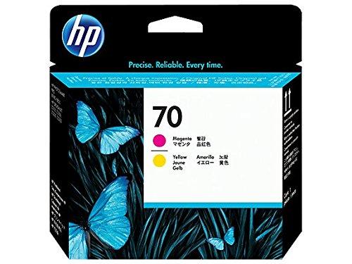 HP 70 Tête d'impression d'origine Magenta et Jaune