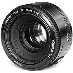 Yongnuo YN-EF 50 mm F/1.8 1:1 .8 Standard Prime-Objectif pour appareil photo numérique Canon Rebel