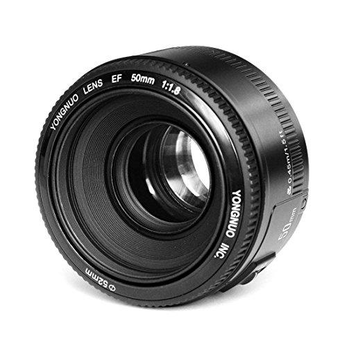 YONGNUO YN50mm F1.8 Autofokus Objektiv mit Canon EF Bajonett, kompatibel mit wie Canon350D/450D/500D/600D/650D/700D/60D/5D Mark II/5D Mark III