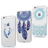 0729f764780 3x Funda iPhone 6S Plus, 6 Plus Carcasa Silicona Gel Case Ultra Delgado TPU  Goma